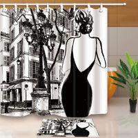 Fashion Beauty Theme Waterproof Fabric Home Decor Shower Curtain Bathroom Mat