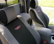 For Toyota Tacoma 2.7L 4.0L 2005-2008 Front Seat Covers Black & Gray With Logo
