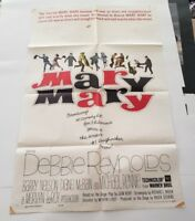 "MARY MARY 1963 Original Movie Poster One Sheet 27"" x 41"" DEBBIE REYNOLDS"