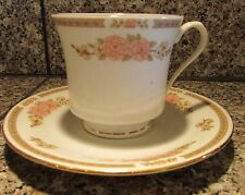 Set of 6 Fairfield Fine China FLORAL MIST  Cup & Saucer Sets