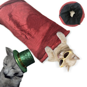 Winter Warm Folding Pet Cat Dog Rabbit Fun Tunnel Foldable training Toy Pop Out