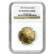 1991-P 1/2 oz Proof Gold American Eagle PF-70 NGC - SKU #19350