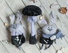 Mushroom hares Composition of hares viscose rabbits toys 12 inch
