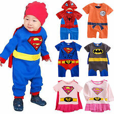 Infant Boy Girl Baby Super Hero Romper Outfits Suit Party Fancy Dress Costumes