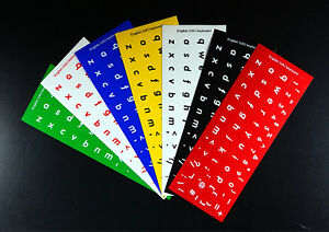 English Keyboard Stickers Large Big Letters Poor Eyesight Children Computer PC
