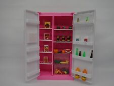 Gloria,Barbie Doll House Furniture/(94017) Refrigerator & Food Accessoie Set