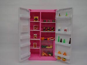 Gloria,Barbie Size Doll  Furniture/(94017) Refrigerator & Food Accessories Set