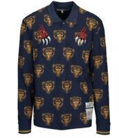 Men's REASON Panther Navy Blue Gold Long Sleeve Polo XXL MSRV $60 NEW