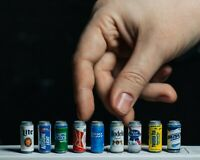 Miniature Beer Can Accessory for Legends, Mezco, NECA Action Figure/Dollhouse
