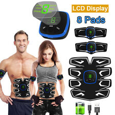 Usb Rechargeable Lcd 8 Pads Abdominal Arm Muscle Trainer Fitness Training Gear