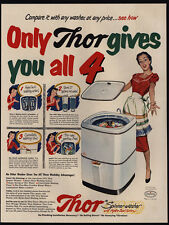 1951 THOR Spinner Washer Hydro Swirl Washing Machine Give You All 4 VINTAGE AD