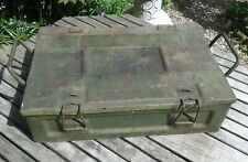 Vintage Military WW2 1943 P 60 Metal Ammo Box Ammunition Case Retro Tool Box