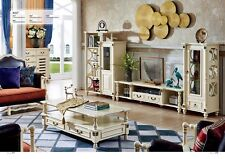 Colonial Style Wall Unit Living Room Wood Shelf Furniture Founder Time Display