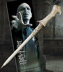 Noble Collection Harry Potter Wand Pen & Bookmark - Lord Voldermort