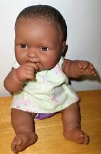 """Berenguer African American Doll 13"""" Chubby Baby Dressed Smiling"""