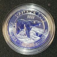 1/2 oz .9999 Pure Silver CANADA POLAR BEAR (2018) Bullion Coin Encapsulated