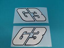 Hercules G3 Seitendeckel Sticker Schriftzug Dekor Aufkleber SCHWARZ WEISS