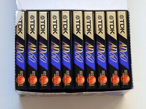 10x TDK AD 60 Cassette Tapes 1995 + OVP + SEALED + Im Pack +