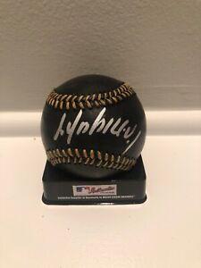 Jose Abreu Chicago White Sox Autographed Signed Black Baseball Imperfect