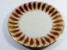 Bavaria Germany Elfenbein Porzellan Gold & Burgundy Feather Leaf pattern plate