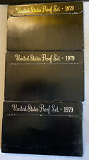 1979 U S Proof Sets. 18 Coins In 3 Lots.