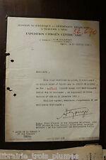 ✒ L.S. André CITROEN André GOERGER Croisière JAUNE Expédition Asie 26 janv 1933