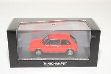 . MINICHAMPS VW VOLKSWAGEN GOLF GTI PIRELLI 1983 RED MINT BOXED