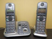 Panasonic KX-TG7731 DECT 6.0 2 Handsets Excellent condition BLUETOOTH  cordless