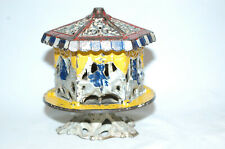 """Cast Iron """"Merry-Go-Round"""" Still Bank Made By Grey Iron Casting Company"""
