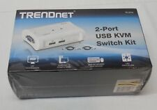 TRENDnet  TK (TK207K) 2-Ports External KVM switch USB Manage Two PC's