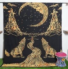 Mandala Tapestry Queen Size Printed Bedsheet Wall hanging The Moon Wall Decor