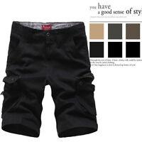 Men' Chino Shorts Pants Knee Length Cotton Casual Cargo Shorts Plus Size 30-42 !
