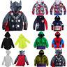 Toddler Kids Girls Superhero Clothes Hoodies Sweatshirt Jumper Coats Zip Outfits