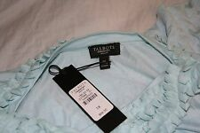Talbots~NWT~AQUA blue mini-ruffle V-neck 3/4 sleeve knit top~1X~R$69