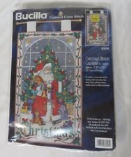 Vintage Bucilla Counted Cross Stitch Christmas Advent Calendar with Charms NIP