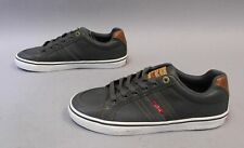 Levi's Men's Turner Nappa Lace-Up Low Top Sneakers SC4 Grey/Tan Size US:9 UK:8