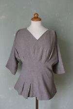 COS Shirt Bluse Tunika beige toller Schnitt Schößchen Gr. 38 M (K2)*