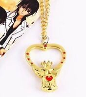 "Sailor Moon Anime Chibi Crystal Carillon Crown Necklace 2"" US Seller"
