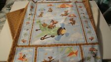 Zig the Flying Ace Quilt Kit-Panel-Batting-Backing -All In One