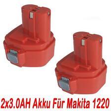 2x 12V 3.0AH Akku für Makita 1220 1222 1233 1234 1235 1925974 1925982