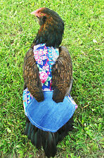1 SUPER WIDE w TAIL FEATHER PROTECTION Chicken Saddle Hen Apron BACKYARD POULTRY