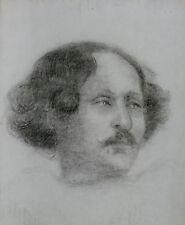 Portrait estompe crayon 19ème