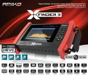 Misuratore Di Campo Satellitare e Digitale Terrestre HEVC 265 Amiko X Finder 3