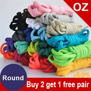 Shoelaces Colorful Coloured  Round Bootlace Sneaker shoe laces