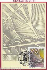 ITALIA MAXIMUM MAXI CARD ROMA 809 PIER LUIGI NERVI 1991 ANNULLO SONDRIO C480