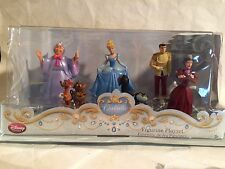 Disney Store Authentic Princess CINDERELLA PLAY SET FIGURINES Cake TOPPERS NEW