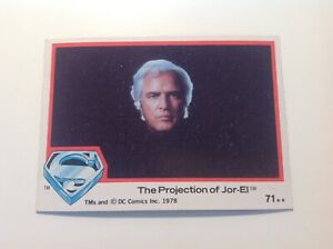 Superman The Movie 1978 Trading Card Projection Of Jor-El #71