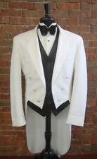 Mens Size 60 R Classic White Notch Tails Tuxedo Jacket Full Dress Tail