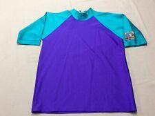 Vintage 80S C-Shirt Surf Body Board Rash Guard Size Medium Neon Spandex