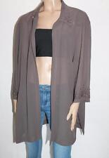 Jaki K Brand Brown Chiffon Beaded Detail Short Sleeve Jacket Size 24 BNWT #JA102